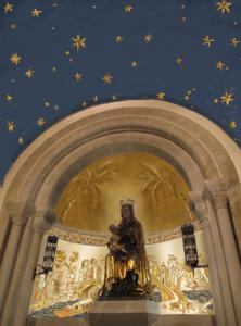 starry ceiling of shrine (sm)